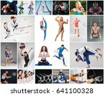 collage about different kind of ... | Shutterstock . vector #641100328
