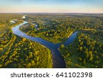 aerial shot of a river in the... | Shutterstock . vector #641102398