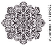 mandala  circle decorative... | Shutterstock .eps vector #641104012