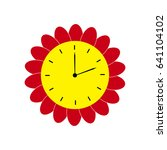 flower clock icon. isolated....