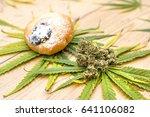 marijuana party cake | Shutterstock . vector #641106082