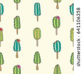 seamless vector pattern with... | Shutterstock .eps vector #641106358