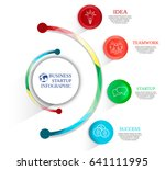 infographics using circles and... | Shutterstock .eps vector #641111995