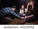 young people thinking  moving... | Shutterstock . vector #641115952