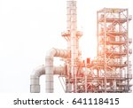 industrial zone the equipment... | Shutterstock . vector #641118415