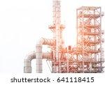industrial zone the equipment... | Shutterstock . vector #641118415