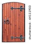 Vintage Wooden Door On The...