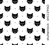 seamless pattern with black... | Shutterstock .eps vector #641119462