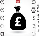money pound icon or flat sign.... | Shutterstock .eps vector #641125006
