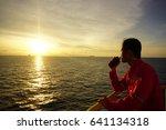 offshore worker communicate...   Shutterstock . vector #641134318