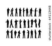 silhouette  man | Shutterstock . vector #64113448