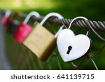 Heart Shaped Padlock On The...