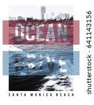 Photo Print Santa Monica Beach...