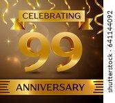 ninety nine years anniversary...   Shutterstock .eps vector #641144092