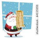 breakfast with santa | Shutterstock .eps vector #64115353