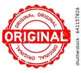 grunge red original round... | Shutterstock .eps vector #641157826
