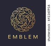 floral logo. flower icon.... | Shutterstock .eps vector #641160916