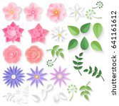 paper flowers. can be used as... | Shutterstock .eps vector #641161612