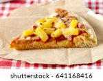 hawaiian homemade gourmet pizza ... | Shutterstock . vector #641168416