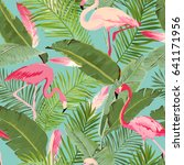 tropical seamless vector... | Shutterstock .eps vector #641171956
