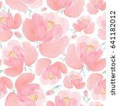 watercolor seamless pattern... | Shutterstock . vector #641182012
