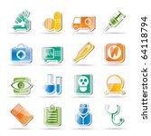 medical  hospital and health... | Shutterstock .eps vector #64118794