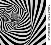 tunnel. optical illusion. black ... | Shutterstock .eps vector #641189092