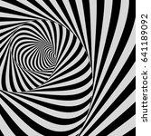 tunnel. optical illusion. black ... | Shutterstock .eps vector #641189092