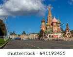 moscow russia red square view... | Shutterstock . vector #641192425