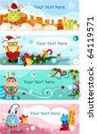 christmas card set | Shutterstock .eps vector #64119571