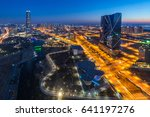 korea city with beautiful after ... | Shutterstock . vector #641197276