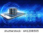 3d rendering database storage... | Shutterstock . vector #641208505