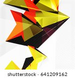 3d triangles and pyramids ... | Shutterstock .eps vector #641209162