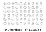 set line icons in flat design... | Shutterstock . vector #641210155