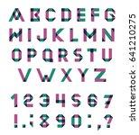 alphabet set fun geometric font.... | Shutterstock . vector #641210275