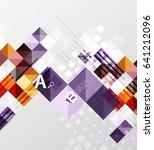 modern geometrical abstract... | Shutterstock .eps vector #641212096
