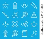 interface icons set. set of 16... | Shutterstock .eps vector #641215306