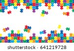 seamless puzzle background with ... | Shutterstock .eps vector #641219728