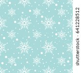 christmas pattern with... | Shutterstock . vector #641228512