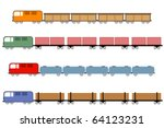 trains   freight train... | Shutterstock .eps vector #64123231