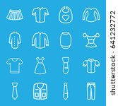 apparel icons set. set of 16... | Shutterstock .eps vector #641232772