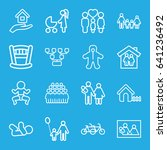 family icons set. set of 16... | Shutterstock .eps vector #641236492
