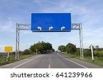 blank road sign on highway road | Shutterstock . vector #641239966