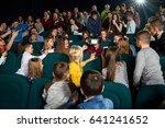 young boy wearing virtual...   Shutterstock . vector #641241652