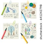 school cheat sheets for... | Shutterstock .eps vector #641242798