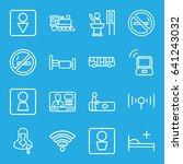 public icons set. set of 16... | Shutterstock .eps vector #641243032