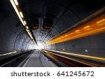 traffic rushing through a... | Shutterstock . vector #641245672