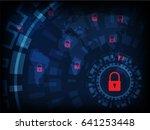 ransomware alert  technology ... | Shutterstock .eps vector #641253448