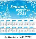 calendar 2011. vector blue...