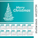 christmas tree with 2011... | Shutterstock .eps vector #64125754